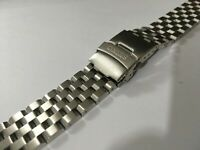 SEIKO SOLID STAINLESS STEEL GENTS WATCH STRAP,STRAIGHT LUG,22MM,NEW,( BD-11 )