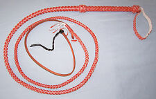 Lot of 5--> 6 foot 10 Plait  DARK TAN INDIANA JONES STYLE LEATHER BULL WHIP