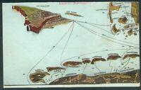Helgoland Postkarte mit seltenen Marine Briefstempel Flugplatz Helgoland 1915