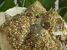"""7"""" Pyrite Fluorite White Calcite Cluster Crystal Quartz Specimen Gemston W/Stand"""