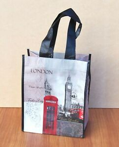 London Shopping Bag Small Lightweight Reusable UK Souvenir Gift Bags