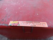 Vintage Adams Strawberry Gum Metal Sign MINT NOS GAS OIL SODA DOOR PUSH COLA NR!
