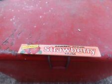 Vintage Adams Strawberry Gum Metal Sign MINT NOS GAS OIL SODA DOOR PUSH COLA NR!