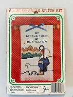 Christmas Counted Cross Stitch 'N Hang KIT Little Town Bethlehem sheep shepherd