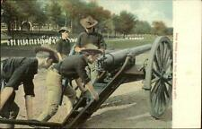 US Armt Army Soldiers Light Artillery Cannon c1905 Postcard