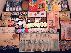 BLOWOUT SALE ********Junk Drawer Lots *TOKENS* BANKNOTES *CARDS COINS collection