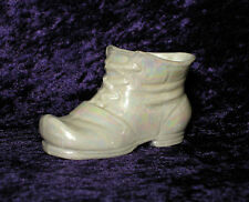 Vintage Hollywood Regency Iridescent Pearl Luster Ware Collectible Baby Shoe