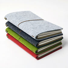Classic Traveler's Notebook Recycled Felt  Cover incl 3 inner Journals with band