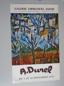 AFFICHE A.DUNEL 1977 -GALERIE EMMANUEL DAVID -  42X 68cm