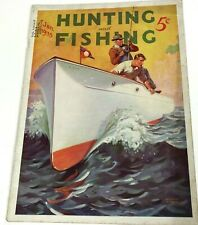 Hunting and Fishing Magazine January 1935 William Eaton cover Vintage Ads