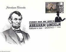 US FDC Sc# 4383 Abraham Lincoln - 2 cover with Blue Water and CL cachets -US8261