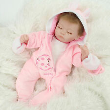 Reborn Newborn Dolls With Clothes Handmade Lifelike Baby Soft Vinyl Girl Doll