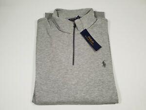 New Authentic Polo Ralph Lauren Men Double Knit Half Zip Pullover 2XL CLEARANCE