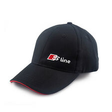 1x Black Baseball Cap Adjustable Casual Hat For Audi Sline A1 A3 A4 A6 Quattro