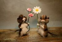 Needle felted mouse, teddy animals, by Jljuda, handmade