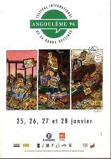 Festival de la Bande Dessinée / ANGOULEME 96 - Affiche de VUILLEMIN