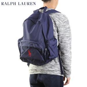Polo Ralph Lauren Nylon Big Pony Backpack Bag - Navy (red) -