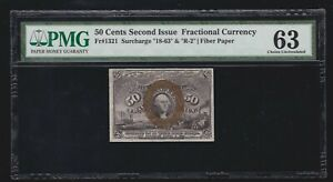 US Fractional Currency Note 2nd Issue w/ 18-63 & R-2 FR 1321 PMG 63 Ch CU (020)
