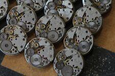 12 pc. Watch Parts Movements Vintage Mechanisms 18mm. round Steampunk Art