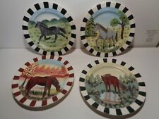 8''  decorative horse plates- set of 4