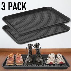 """3-pack Multi-Purpose Waterproof Boot Tray Outdoor/Indoor Garage Shoes 30"""" x 15"""""""