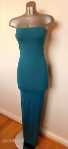 WOLFORD FATAL DRESS, TURQOISE BLUE, SIZE SMALL, UK 10-12, USA 8, BNWT