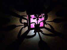 Pink Solar Betrieben LED Laterne, Garten Metall Fret, Außen Wandbehang Lampe