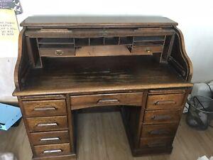 Roll Top Desk Bureau