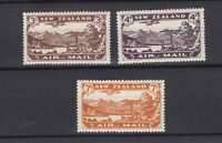 New Zealand 1931 Airmail Set Of 3 SG548/550 MH JK2391