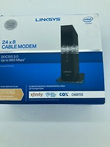 Linksys 24x8 Cable Modem with Ethernet Cable - DOCSIS 3.0 - Model #CM3024