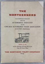 Original 1954 Program Ronald Reagan & The Northerners Chicago Automobile Trade