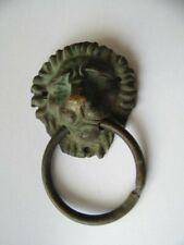 Bouton Poignée de Tiroir en Bronze XIXème Siècle Ornement Tête de Lion cuivrerie