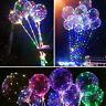 Colorful Lights Luminous LED Balloon Round Bubble Wedding Party Decoration