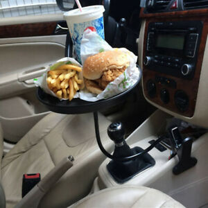 Black Car Table Cup Holder Drink Coffee Bottle Organizer Food Tray For Toyota