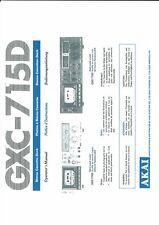 Akai  Bedienungsanleitung user manual owners manual  für GXC- 715 D
