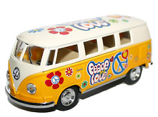 VOLKSWAGEN Camper Van Flower Power Hippy modello IN SCALA 1:32 Auto Nuovo di Zecca