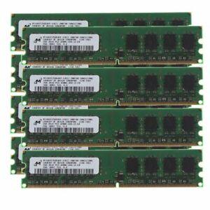 16GB 8x 2GB DDR2 533MHz PC2-4200U 240pin CL4 DIMM RAM Desktop Memory For Micron
