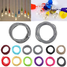 3M 2 Cord Color Vintage Twist Braided Fabric Light Cable Electric Wire