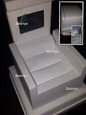 NEW WHITE BRIDAL HD VIDEO / AUDIO LCD ENGAGEMENT RING BOX PRESENTATION EARRINGS