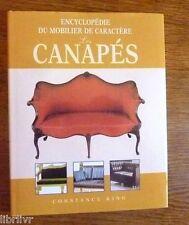 MOBILIER EBENISTERIE LIVRE ENCYCLOPEDIE DU MOBILIER DE CARACTERE : LES CANAPES