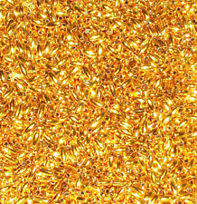 Beads 6mm x 3mm Gold Shiny Acrylic Spacer Rice Oval Craft Bead Golden 50g Pack