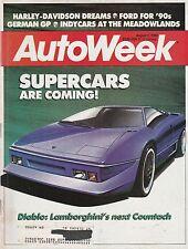 AutoWeek Aug 1, 1988 - Lamborghini Diablo - Bizzarrini P538 - Harley Davidson