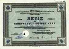 Vereinigte Deutsche Nickel Werke 1951 Schwerte Iserlohn Letmathe 100 DM VDN DOAG