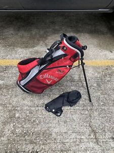 Red Callaway XJ Series Jr Junior Golf Bag - Red - Comes With Rain Cover