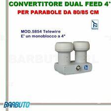 CONVERTITORE  LNB OCCHIO TELEWIRE MONOBLOCCO 4° PER PARABOLE DA 80/85 CM