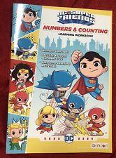 DC COMIC SUPERHERO Numbers & Counting Workbook preschool kindergarten homeschool