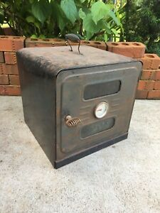 Vintage Milcor Warming Oven for Wood Stove Antique Pie Bread Warmer Thermometer