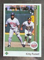 1989 Upper Deck Kirby Puckett #376 - Minnesota Twins - HOF - NM-MT
