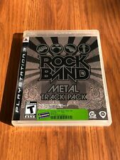 Rock Band: Metal Track Pack (Sony PlayStation 3, 2009) Good!