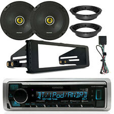 "Marine Bluetooth Radio + Kit, 2x 6.75"" Speakers, Speaker Mounting Ring Adapter"